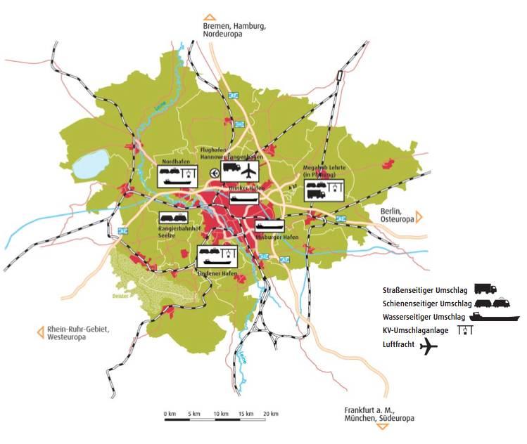 Logistische Knoten in der Region Hannover
