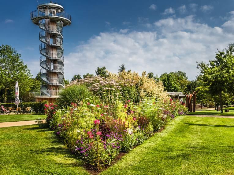Blumenband Turm