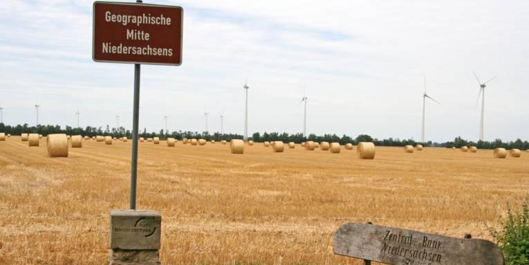 Geografischer Mittelpunkt Niedersachsen