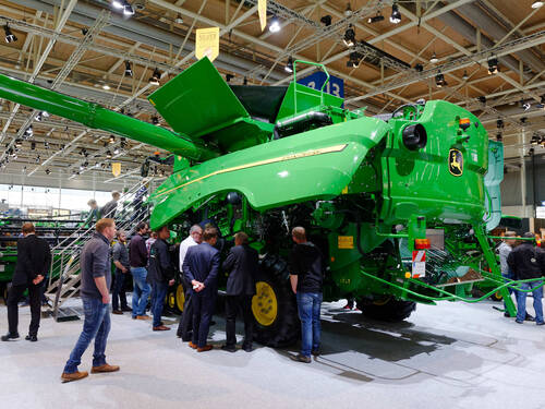 harvester in exhibition hall